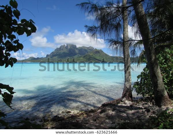 Bora Bora Island View Stock Photo Edit Now 623621666