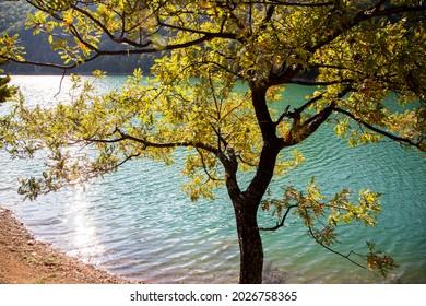Borabay lake and nature view