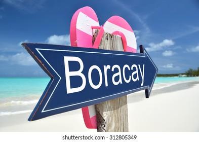Boracay arrow on the beach