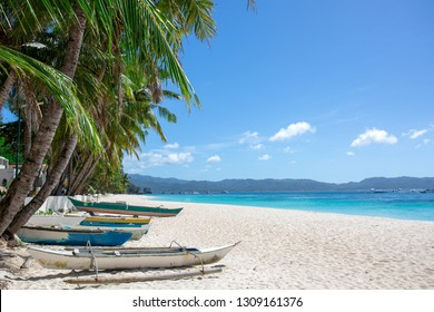 Boracay boats on the White beach