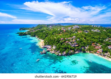 Boracay Island aerial view, Western Visayas, Philippines.