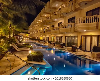 Boracay Island Philippines Mar 05 2017 It is a resort pool popular among tourists among the many hotels in Boracay.