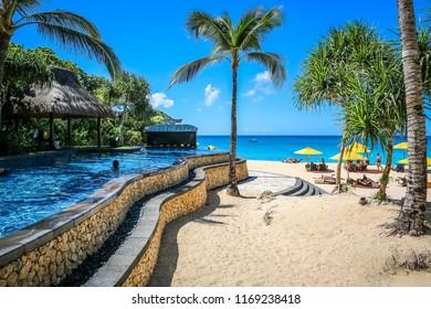 Boracay. Philippines. 01/10/2016 Banyugan beach on the island of Boracay