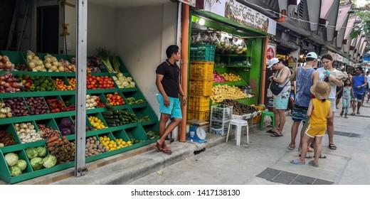 Boracay / Philippines - 04 24 2019: D*mall Market in Boracay Station 2