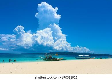 BORACAY, PHILIPPINES - April 27, 2013: Puka Beach.