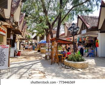 [Boracay Philippines | May 30 2016] Boracay's landmark, a comprehensive shopping complex d mall Boracay Island Philippines