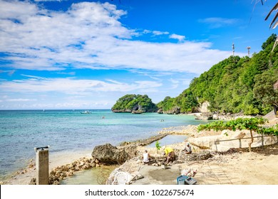Boracay, Philippines - Nov 18, 2017 : Beautiful sea, view from West Cove Resort in Boracay Island in the Philippine