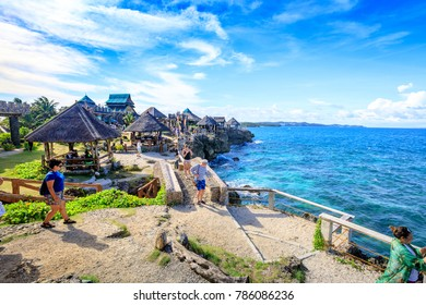 Boracay, Philippines - Nov 19, 2017 : View of Crystal Cove, which is a small island that attracts tourists island hopping near Boracay in the Philippines