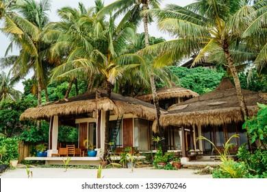 Boracay, Philippines - Nov 2016 : Diniwid beach view, white-sand beach in Boracay Island in the Philippine