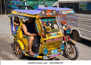 BORACAY, PHILIPPINES - NOVEMBER 13, 2017: Philippino tricycle