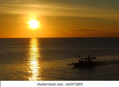 Boracay at sunset