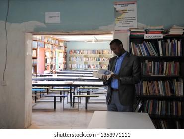 BORAMA, SOMALIA - JANUARY 13, 2010:  Amoud University in city of Borama . Amoud University is a non-governmental, national University and open to all. University library.