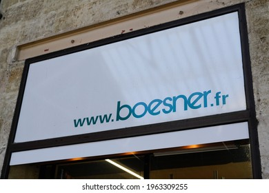 Bordeaux , Aquitaine France - 04 15 2021 : Boesner logo brand and text sign website of wholesaler and store retailer artist materials framing and art books boutique