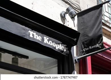 Bordeaux , Aquitaine / France - 07 25 2020 : the kooples logo sign and text on shop facade store fashion boutique in street