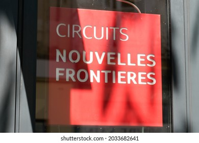 Bordeaux , Aquitaine  France - 08 25 2021 : nouvelles frontieres circuits logo brand and text sign front of travel agents store in street