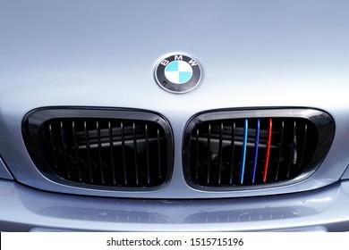 Bordeaux , Aquitaine / France - 09 24 2019 : BMW M3 Front sports car M Performance Edition exterior details