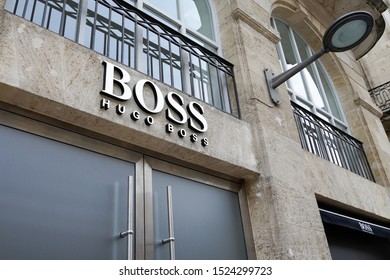 Bordeaux , Aquitaine / France - 10 06 2019 : Hugo Boss store sign German luxury fashion house logo shop