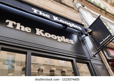 Bordeaux , Aquitaine / France - 10 06 2019 : sign The Kooples Fashion Showcase Casual Wear Paris logo store shop