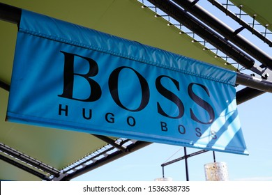 Bordeaux , Aquitaine / France - 10 17 2019 : Hugo Boss logo shop sign store German luxury fashion