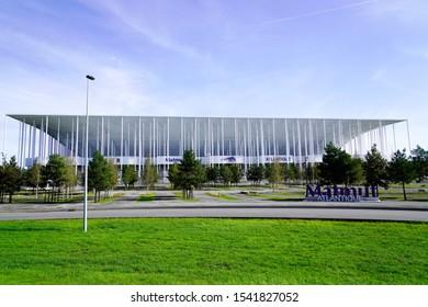 Bordeaux , Aquitaine / France - 10 25 2019 : outdoor view Stade Matmut Atlantique football girondins de bordeaux french soccer Bordeaux