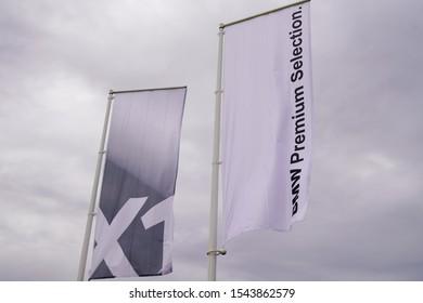 Bordeaux , Aquitaine / France - 10 27 2019 : BMW X1 premium selection flag sign store car dealership shop logo