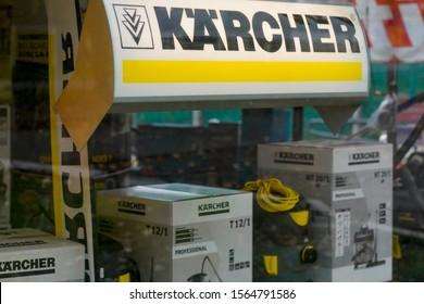 Bordeaux , Aquitaine / France - 11 18 2019 : Karcher store window store sign equipment shop logo