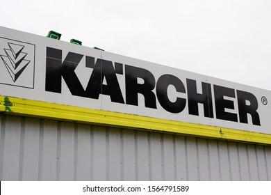 Bordeaux , Aquitaine / France - 11 18 2019 : Karcher brand logotype sign store