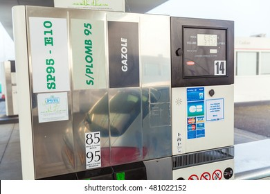 BORDEAUX, FRANCE - APRIL 1, 2011: Car filling at modern gas  station