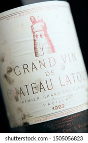 Bordeaux, France - April 28th 2008: Chateau Latour 1982