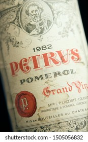 Bordeaux, France - April 28th 2008: Chateau Petrus 1982