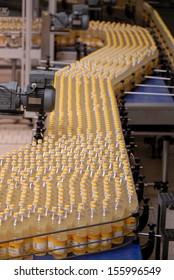 Bordeaux, France, August. 2006: Sunflower oil factory in Bordeaux, France on August, 7th. 2006, bottling the sunflower oil into plastic container
