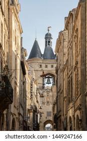 AT BORDEAUX - FRANCE - ON 08/25/2017 - Ancient door of Bordeaux, known as grosse cloche grosse cloche