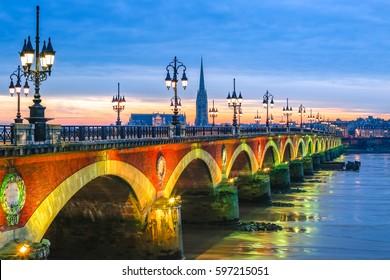 Bordeaux Pont de Pierre stone bridge top european destination in 2017