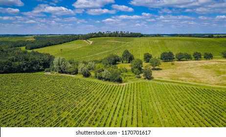 Bordeaux vineyards, Saint-Emilion, in Aquitaine area of the Gironde department, France, Europe, Aerial View
