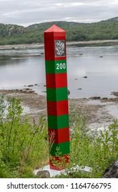 The border between Russia and Norway near Kirkenes and Elvenes