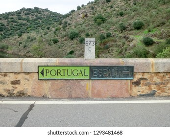 The Bridge Border Between Portugal and Spain Images, Stock