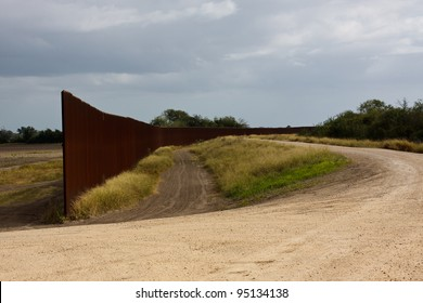 The Border fence between the U.S. and Mexico