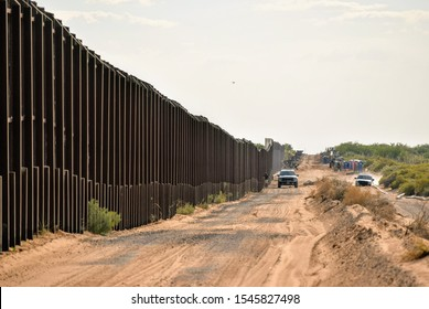 Border fencing along New Mexico's international border with Mexico.