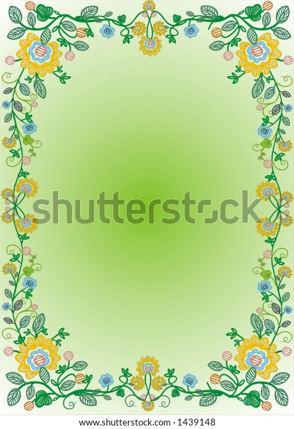 border with flowers