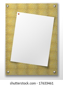 border frame and blank notepad and a paper clip with  background material