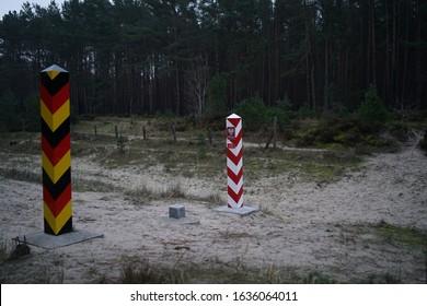 Border poles of the german polish border