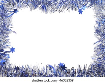 border of the silver tinsel