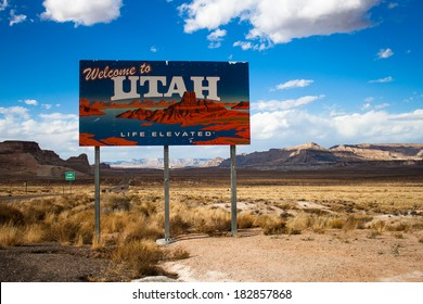 Border of the State of Utah