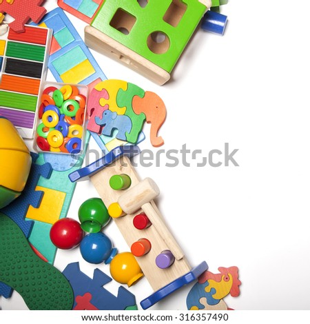 Border Very Many Kids Toys Stock Photo Edit Now 316357490