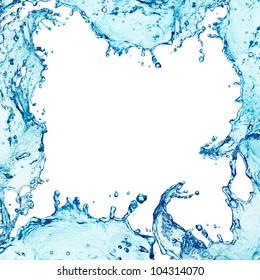 border water splash isolated on white background