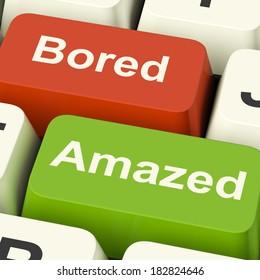 Bored Amazed Keys Showing Boredom Or Amaze Reaction