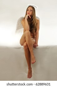 bored angel girl
