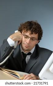 Bored businessman