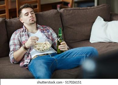 Bored couch potato