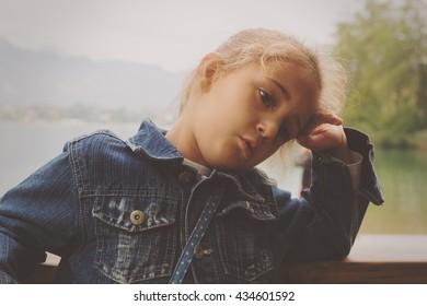 Bored little girl.